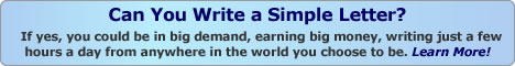 Earn money by writing letters - click here